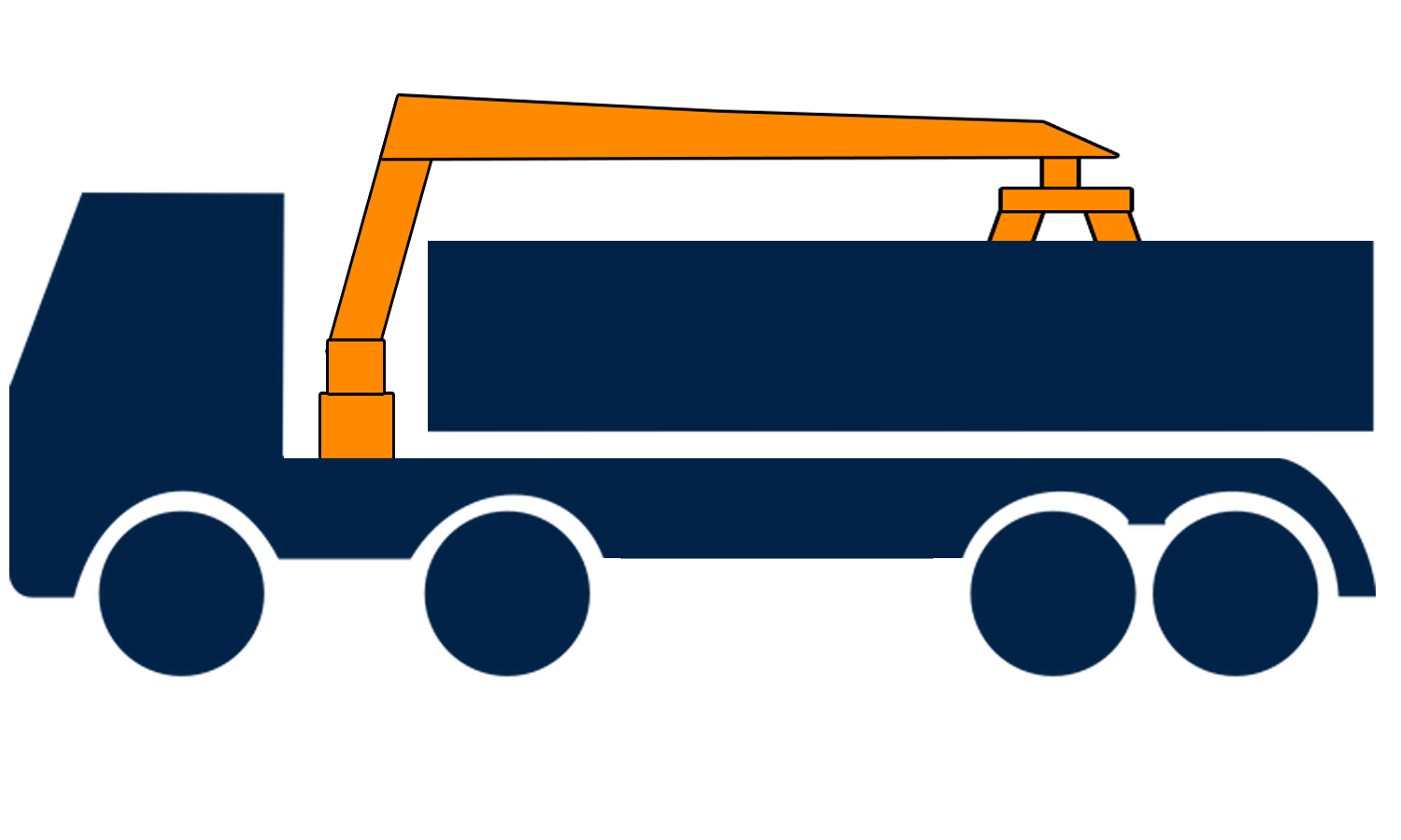 8-wheel grab lorry hire in London