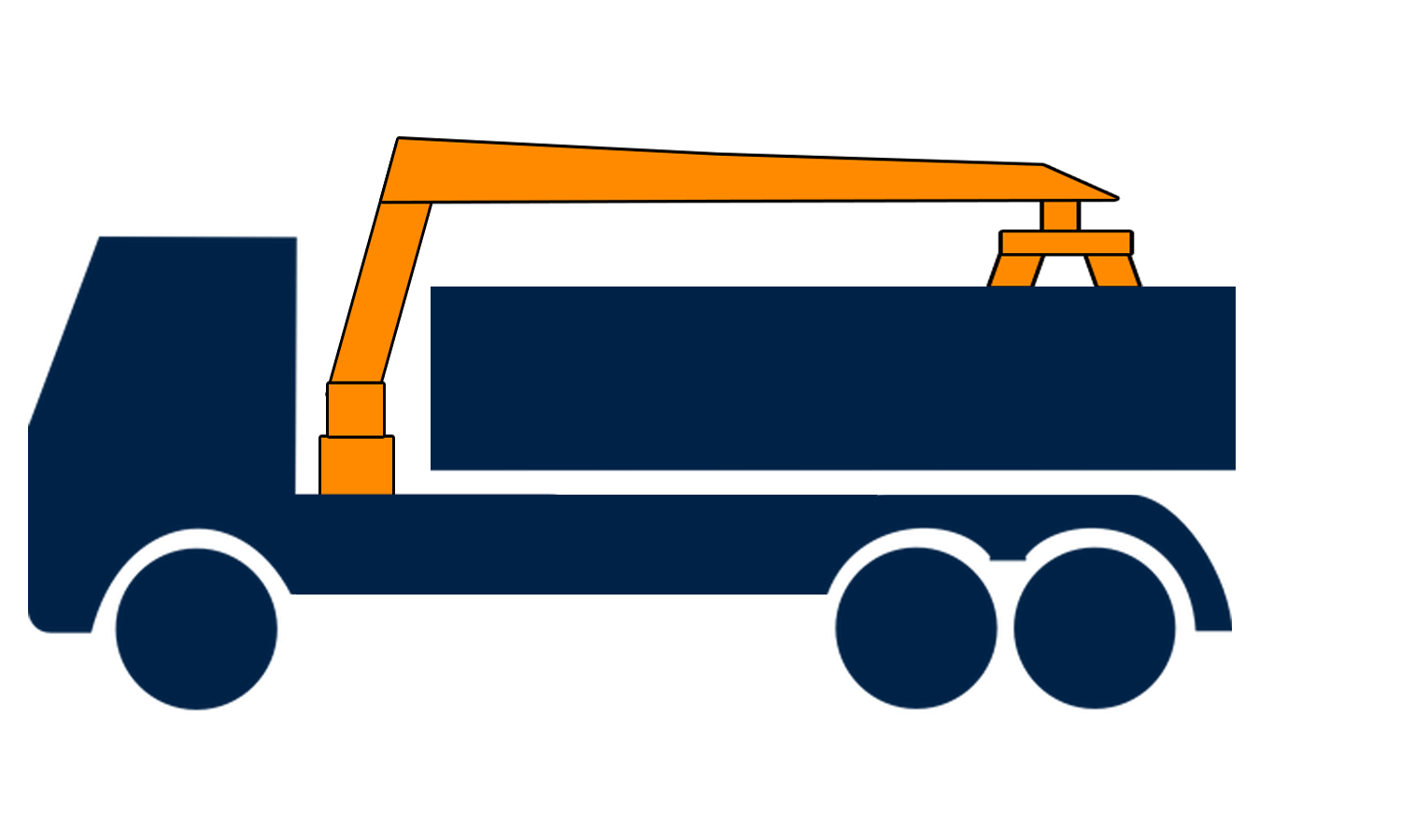 6-wheel grab Lorry hire in London